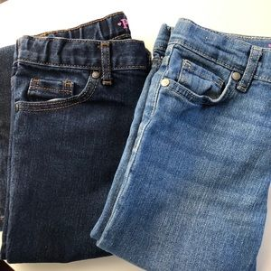 2 pair Girls Children's Place Jeans size 8